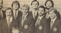 Ray Nelson with the USA team on tour in Australia. Nelson is in the front row, second from the left. Photo Rugby Magazine.