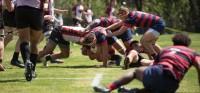 Saint Mary's took it to Central Washington. Photo Saint Mary's Rugby.