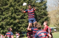Saint Mary's takes a lineout against CWU. Photo Saint Mary's Rec Sports.