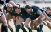Chris Lippert packs down for San Diego State. Pgoto US Rugby Hall of Fame.