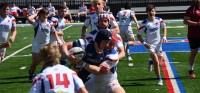 Photos courtesy Bixby Rugby. Aquinas in blue.