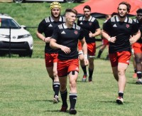 Van Rensburg captains the Red Wolves. Photo ASU Rugby.