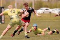 Putting on a sidestep. Photo ASU Rugby.