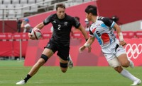 New Zealand co-captain Tim Mikkelson attacks against Korea. Photo Mike Lee - KLC fotos for World Rugby
