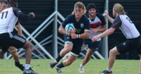 Flanker Tobey Barnfield-Lee had a huge match for UMW. David Hughes photo.