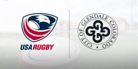 USA Rugby and City of Glendale logos.