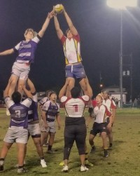 Wilson wins a lineout.