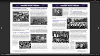 A page of history from the Gonzaga Rugby yearbook.
